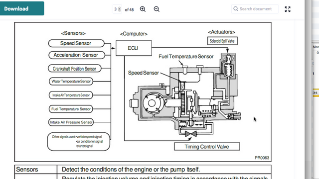 diagram of the fuel pump sensor 1kz-te injection pump leaking from the fuel-temp sensor ... #2