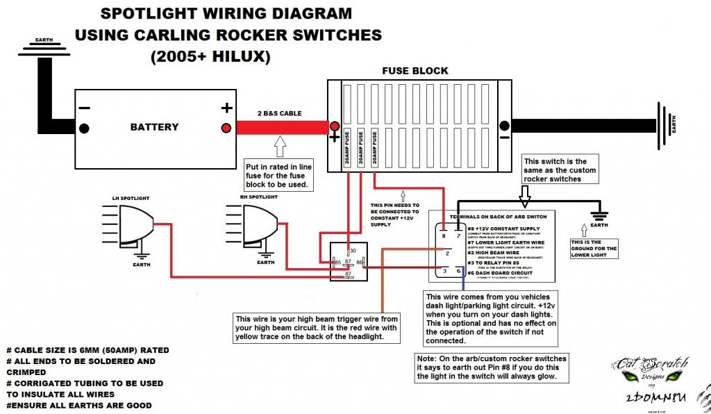 wiring in add'l led light bars and spot lights land cruiser club arb rocker switch wiring diagram at nearapp.co