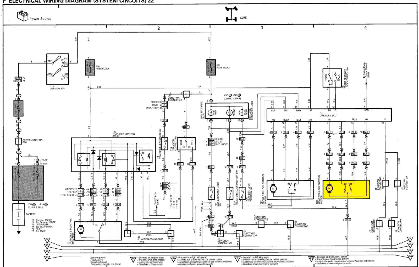 Rear Diff Lock Actuator No Power Getting To It on Toyota Land Cruiser Engine Diagram