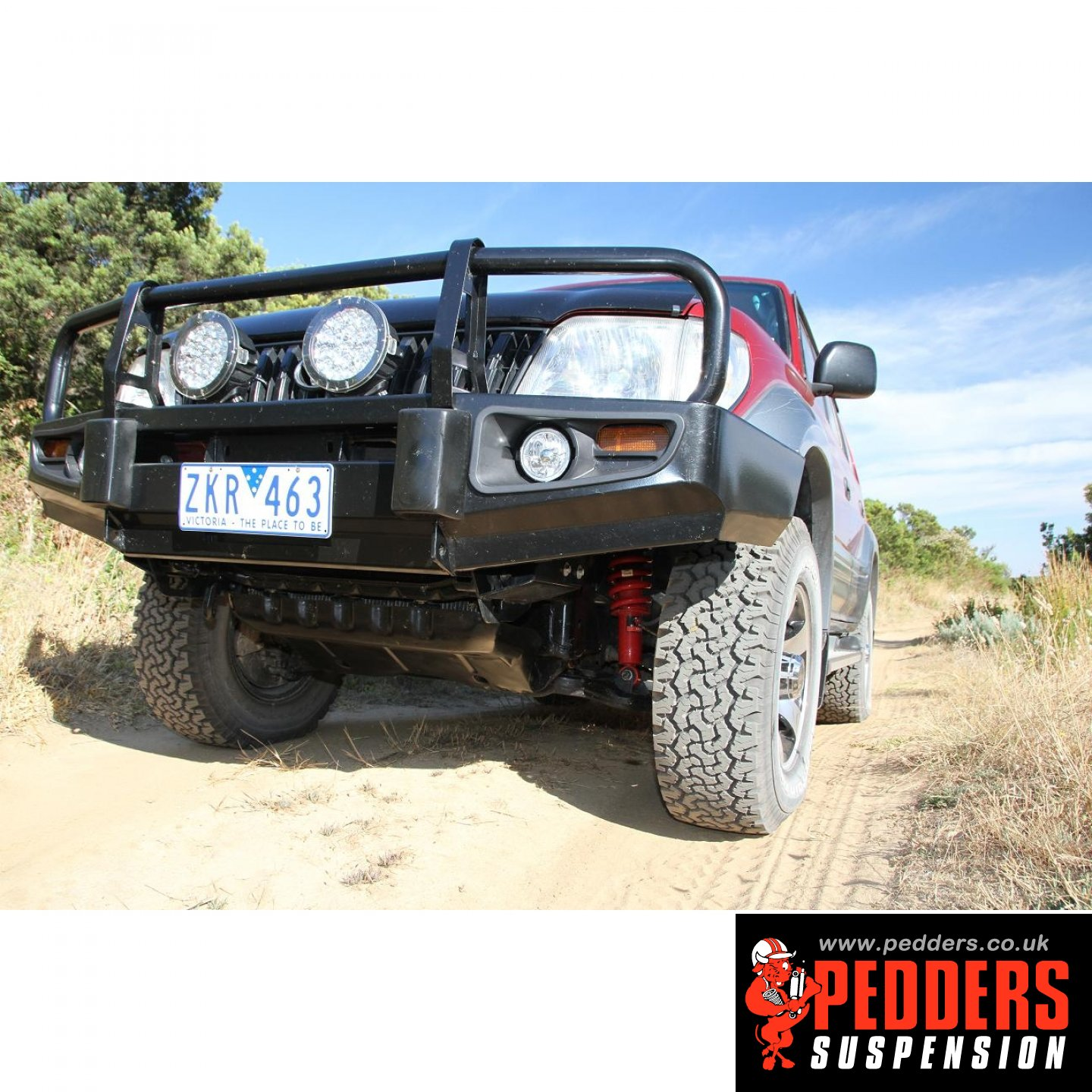 90 series fitted with Pedders Lift kit photos  | Land