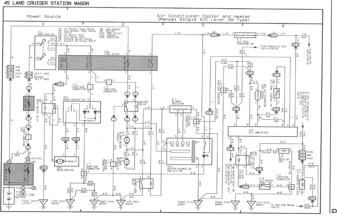 hzj75 air con wiring diagram