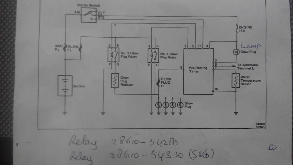 short circuit in super glow pre heating system lj70 land cruiser rh landcruiserclub net heat and glo wiring diagram