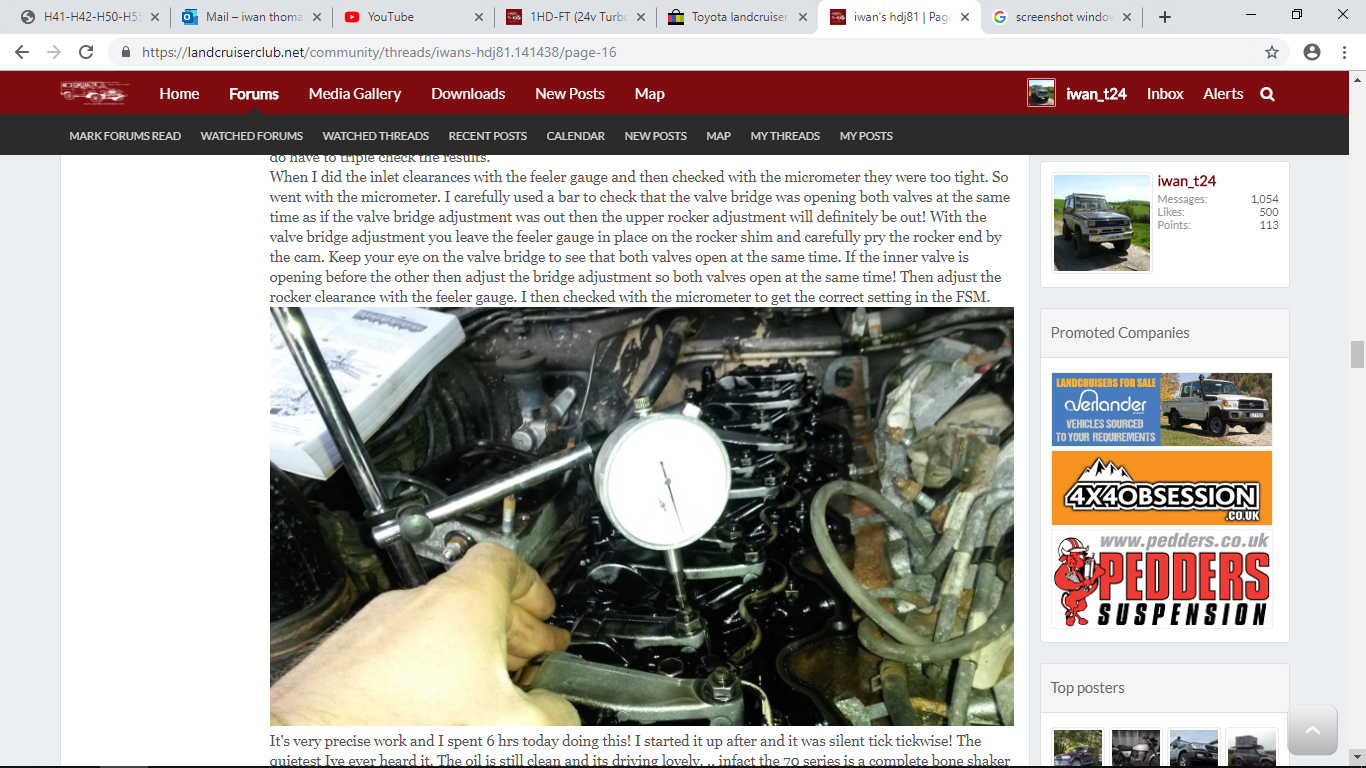 1HD-FT (24v Turbo 80) valve adjustment | Land Cruiser Club