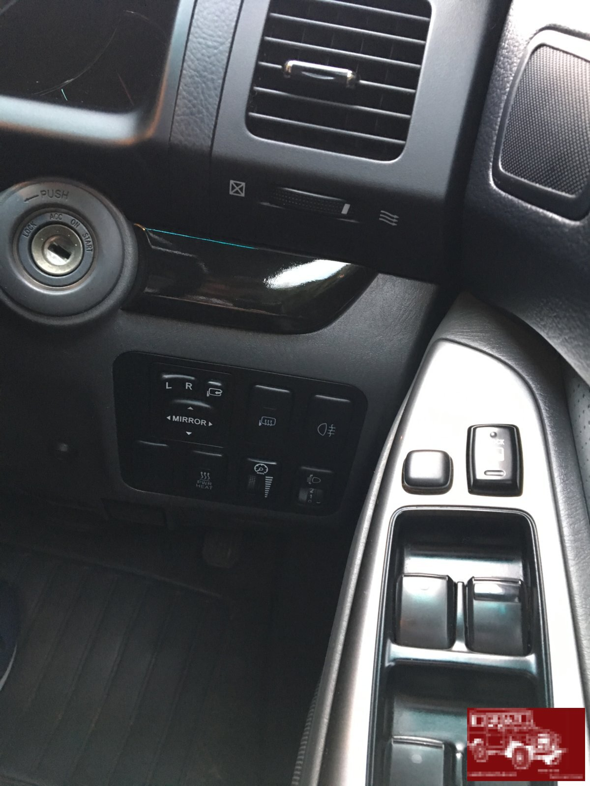 Ignition with black gloss trim